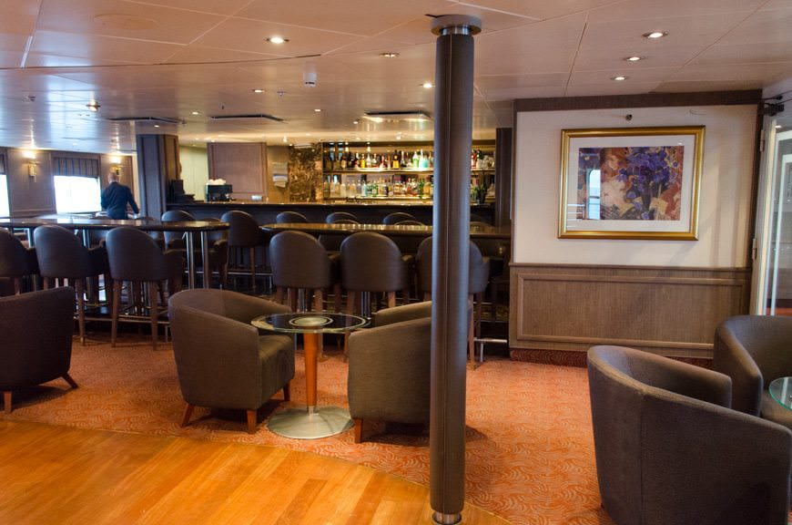 Named after the popular watering hole on other Silversea ships, the Panorama Lounge aboard Silver Explorer is large enough that finding a seat is never an issue. Photo © 2015 Aaron Saunders