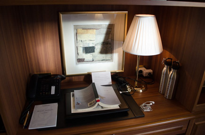 In my suite, you'd never guess by the lighting that it's well after midnight. Astonishing! Photo © 2015 Aaron Saunders