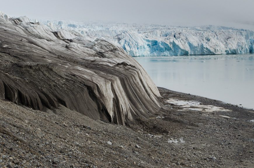 We close in on the 14th of July Glacier in Arctic Svalbard. Photo © 2015 Aaron Saunders