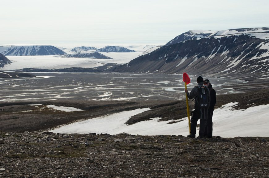 Today, we were treated to two very unique experiences in Svalbards' High Arctic. Photo © 2015 Aaron Saunders