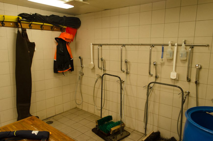Washing stations are also available to clean your boots and waterproof pants, if needed. Photo © 2015 Aaron Saunders