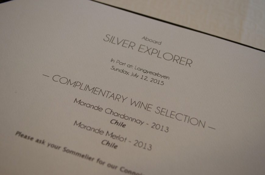 New dinner menus were even printed - note the date and location. Silversea's Silver Explorer crew have worked themselves to the bone for us, and their dedication hasn't gone unnoticed.