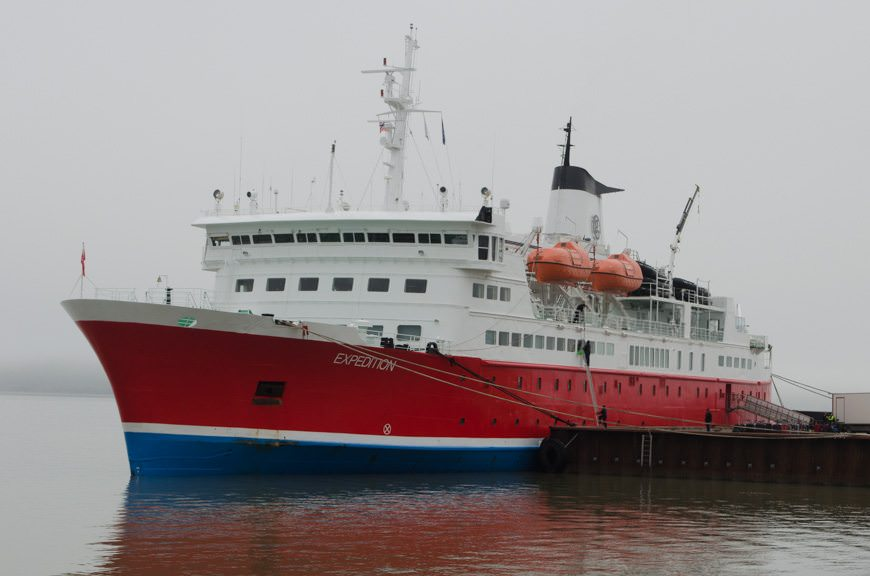It's Not Just Us: Plenty of other expedition ships, including G Adventures' Expedition (shown here) have been affected by the closure of the airport. Photo © 2015 Aaron Saunders