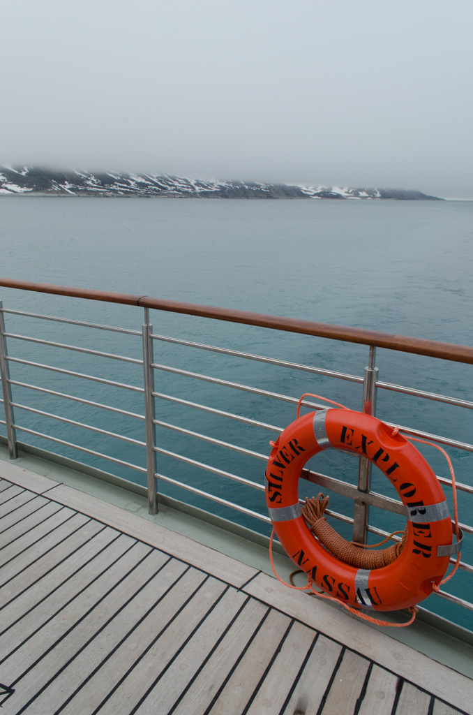 Shortly after 10:00 a.m. this morning, we entered the Magdalenafjorden. Photo © 2015 Aaron Saunders