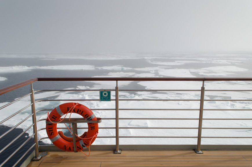 All the better to admire the stunning Arctic vistas. Photo © 2015 Aaron Saunders