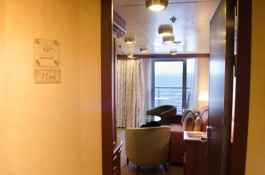 Welcome Home! A tour of Owner's Suite 704 aboard Silversea's Silver Explorer. Photo © 2015 Aaron Saunders