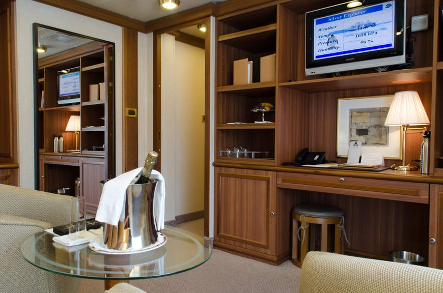 My home for the next 10 days: one of Silver Explorer's two Owner's Suites on Deck 7. Photo © 2015 Aaron Saunders