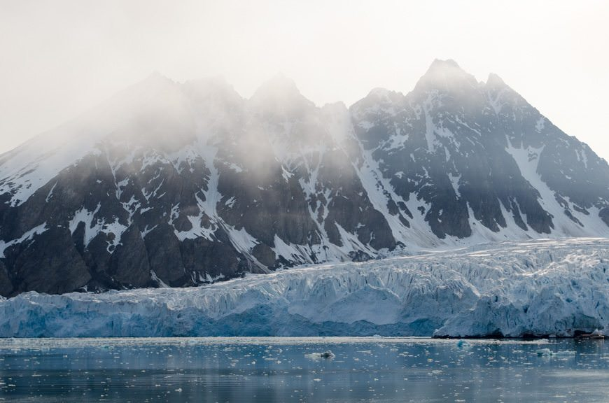 In the afternoon, we pulled up near a magnificent glacier...Photo © 2015 Aaron Saunders