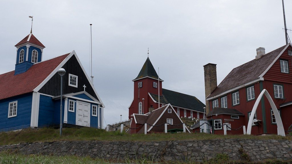 Sisimiut's museum and church. ©2015 Ralph Grizzle