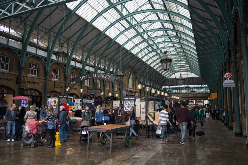 London's Covent Garden is an easy two-minute walk up the street...Photo © 2015 Aaron Saunders