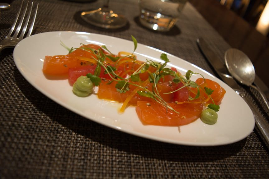 Literally the best salmon I have ever tasted. Photo © 2015 Aaron Saunders