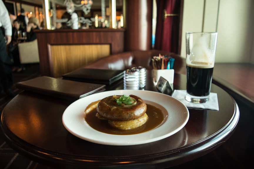 Bangers & Mash & Guinness: a combination made in heaven. Photo © 2015 Aaron Saunders