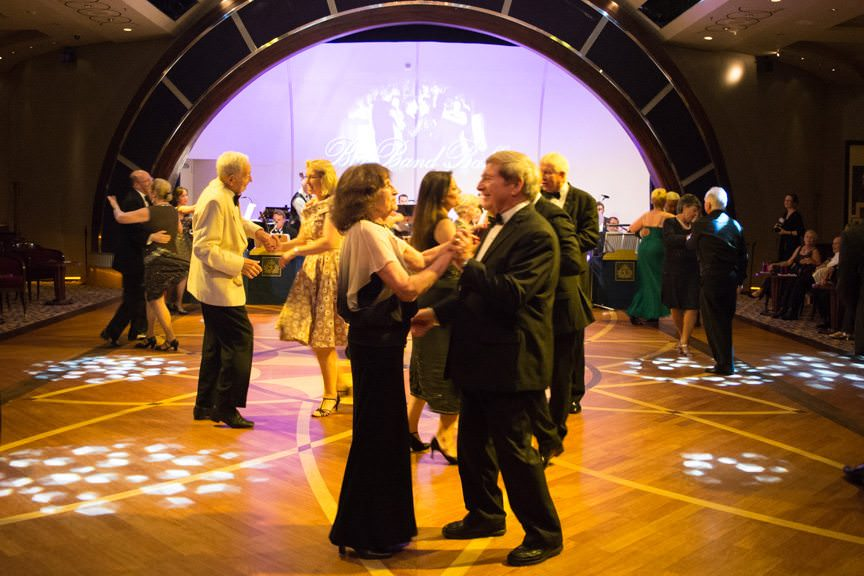 Dancing the night away in the largest ballroom at sea. Photo © 2015 Aaron Saunders