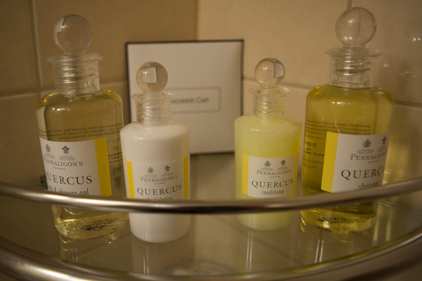 Toiletries from Penhaligon's of London. Photo © 2015 Aaron Saunders