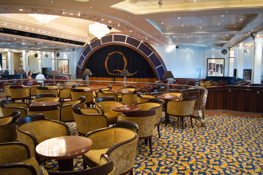 Moving aft on Deck 3 is the Queen's Ballroom - the largest ballroom at sea. Photo © 2015 Aaron Saunders