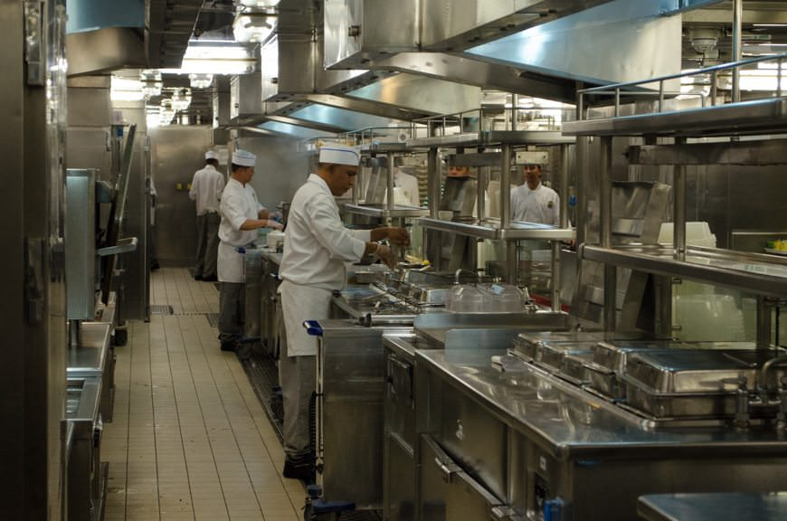 Our Chef's Table experience begins in the galley aboard Star Princess...Photo © 2015 Aaron Saunders