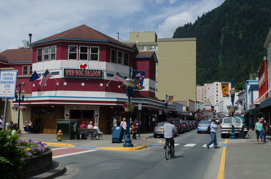 "Juneau, Alaska. One of the ""big three ports"", Juneau is frequently overcrowded with tourists arriving on multiple megaships. Photo © 2015 Aaron Saunders"