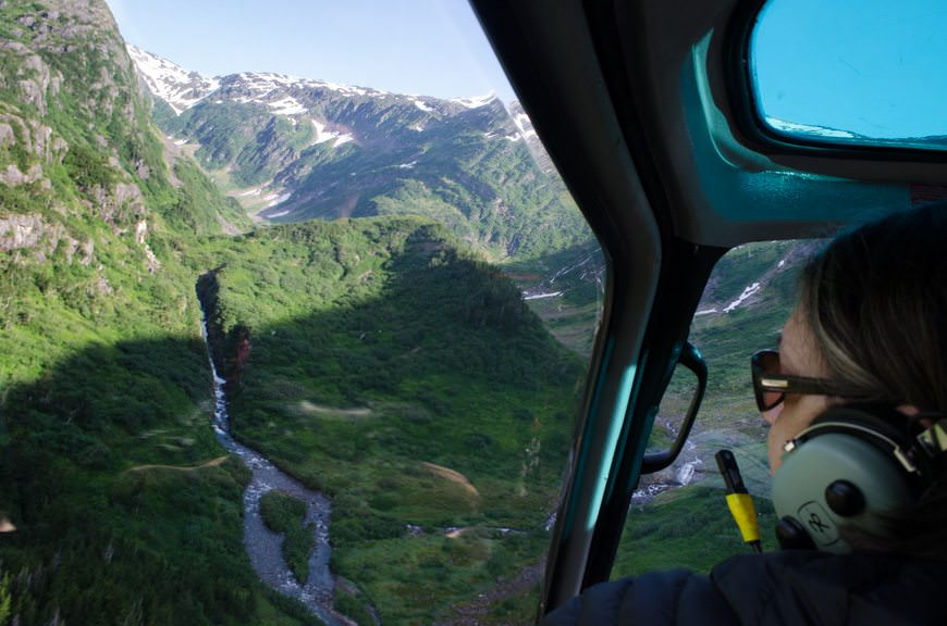 Within seconds, we're soaring over Juneau. Photo © 2015 Aaron Saunders