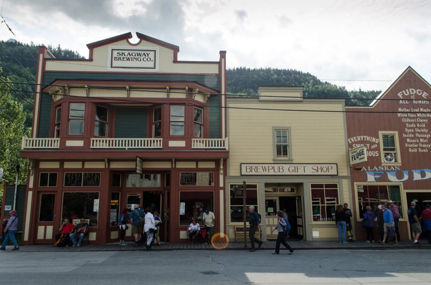 If you love good beer, stop in for a pint of the Spruce Tip IPA at the Skagway Brewing Co. Photo © 2015 Aaron Saunders