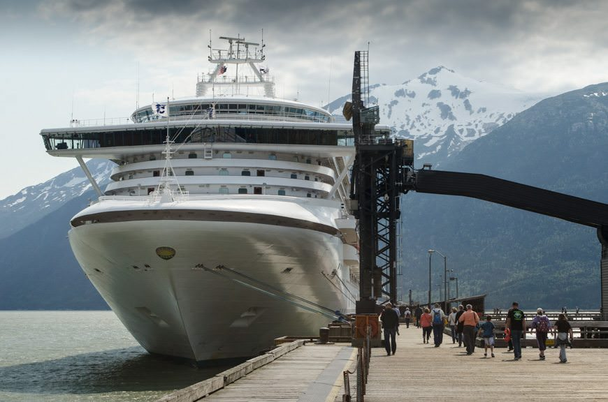 Heading back to re-board the Star Princess at Skagway's Ore Dock before we...Photo © 2015 Aaron Saunders
