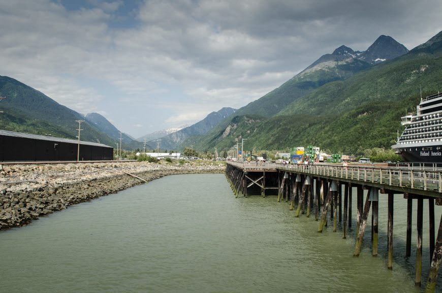 The docks in Skagway. Criminal gangster and all-around bad guy Soapy Smith was gunned down here in 1898. Photo © 2015 Aaron Saunders