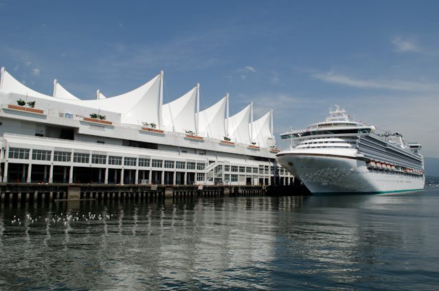 Have you always wanted to try Princess Cruises? Now's your chance: they have short Pacific Coastal voyages running from Vancouver until December this year; the longest cruise season in the city on record. Photo © 2012 Aaron Saunders