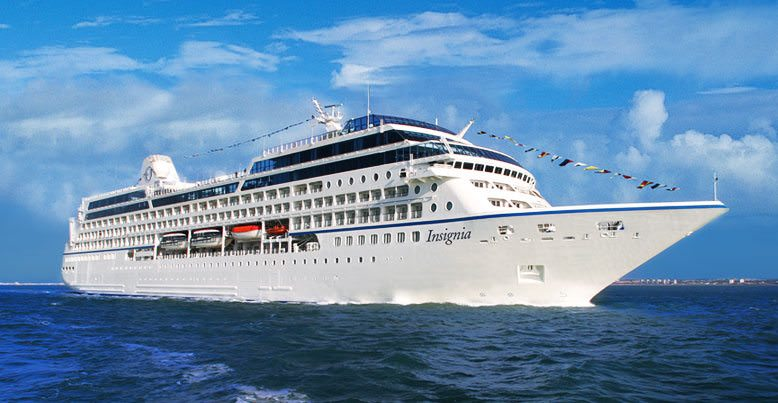 Oceania's Insignia is sailing around the world on a single 180-day voyage. Photo courtesy of Oceania Cruises.