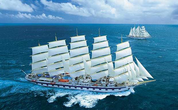 Star Clipper's Royal Clipper, along with the rest of the fleet, offers transatlantic sailings twice per year. Photo courtesy of Star Clippers.