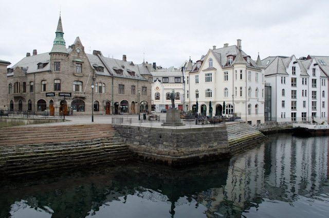 Alesund, Norway - seen here on a brisk February day. Photo © 2013 Aaron Saunders