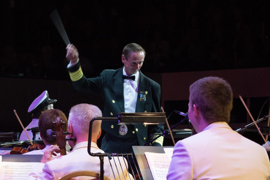We even had a special Guest Conductor for one song: Captain Christopher Wells! Photo © 2015 Aaron Saunders