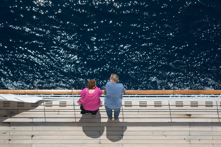 A crossing on Queen Mary 2 gives you respect for the sea...Photo © 2015 Aaron Saunders