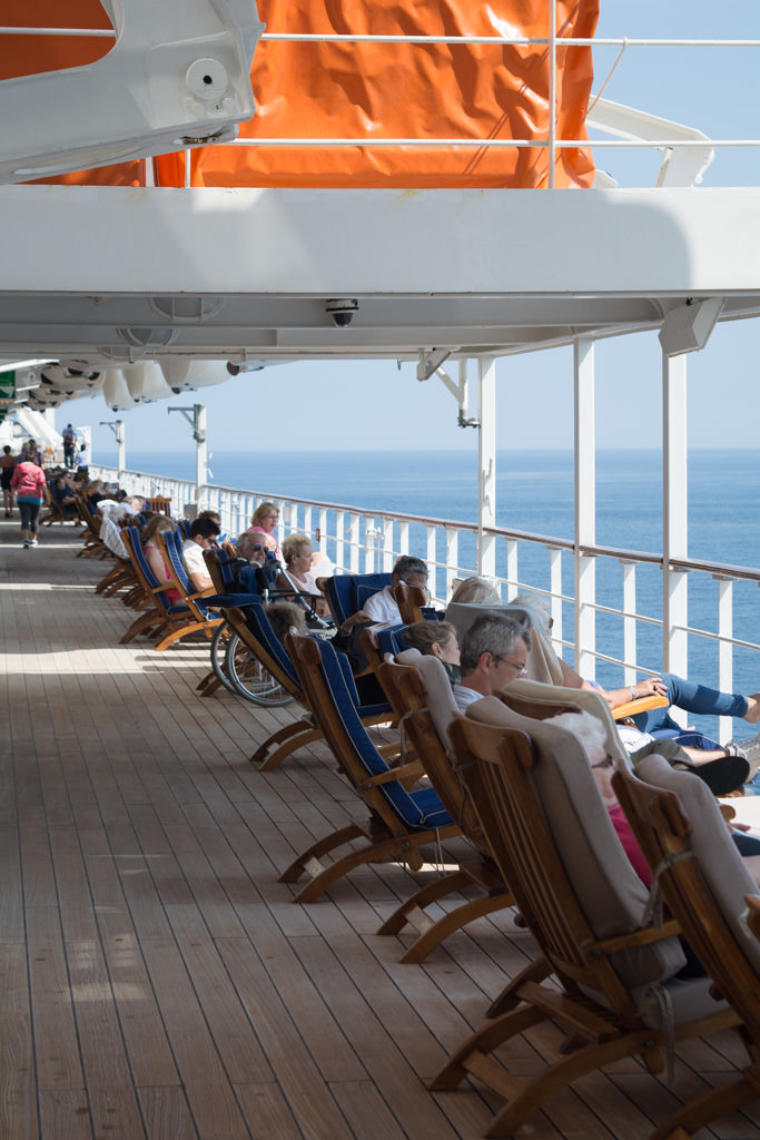 Guests relax on deck...Photo © 2015 Aaron Saunders