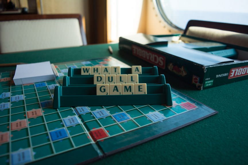 As Seen on Deck 2: Somebody Doesn't Like Scrabble! Photo © 2015 Aaron Saunders