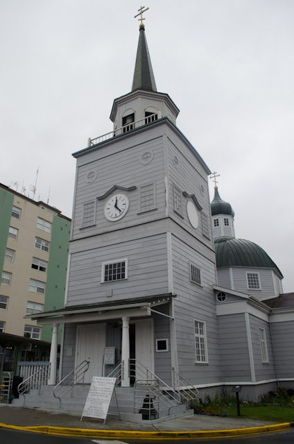 "Sitka's Russia Orthodox Church is one of the most iconic sights in the city, and reflects the long Russian history of the town formerly known as ""New Archangel."" Photo © 2014 Aaron Saunders"