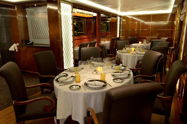 The Relais & Chateaux-inspired Le Champagne will be one of the most luxurious dining venues on an expedition ship. Photo © 2013 Aaron Saunders