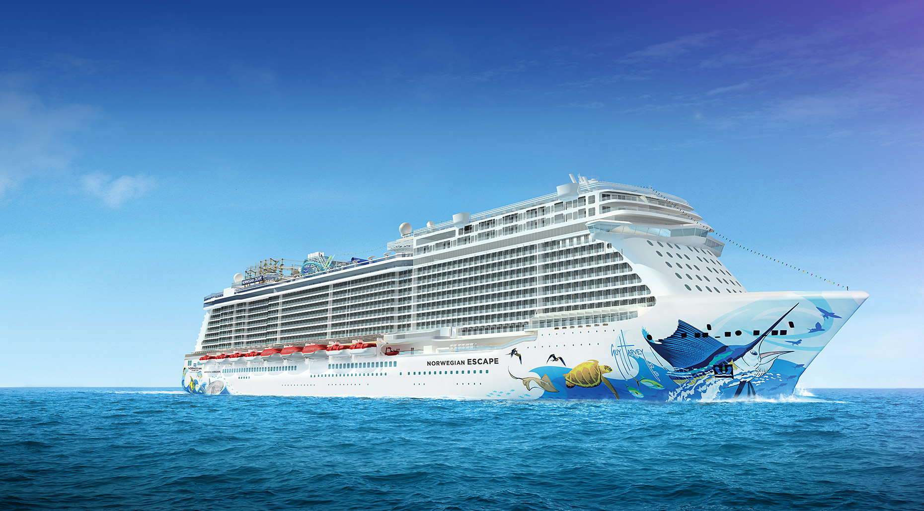 Norwegian Bliss will be a sister to Norwegian Escape, the first Breakaway Plus-class vessel due to enter service next month. Illustration courtesy of Norwegian Cruise Line