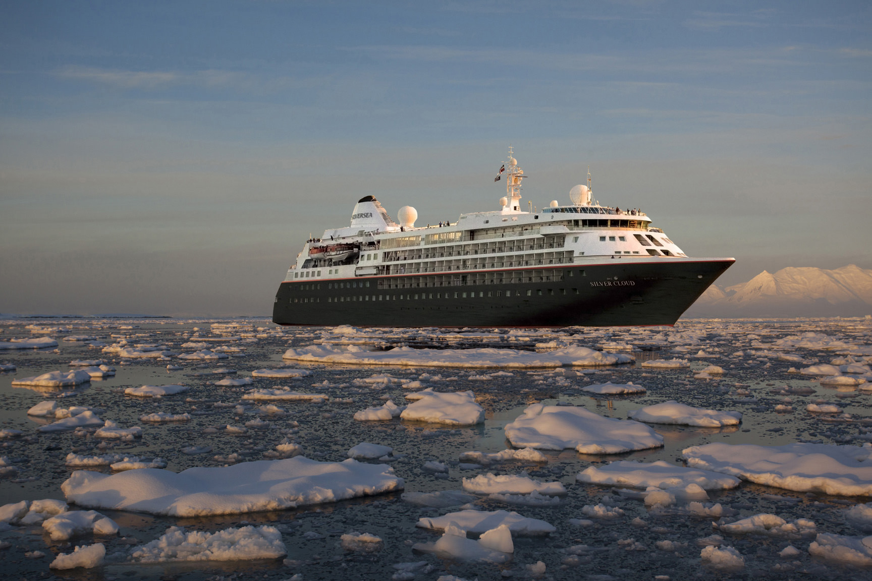 Silver Cloud as Expedition vessel. Luxury line Silversea has announced a full conversion of Silver Cloud into an ice-class expedition ship in 2017. Rendering courtesy of Silversea