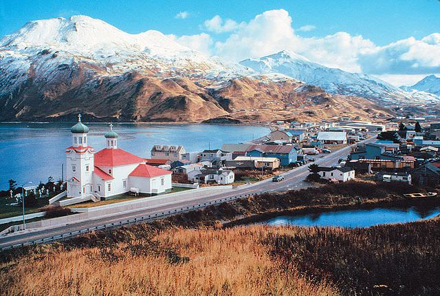 "Dutch Harbor, officially known as ""Unalaska."" Photo courtesy of Wikipedia / Creative Commons"