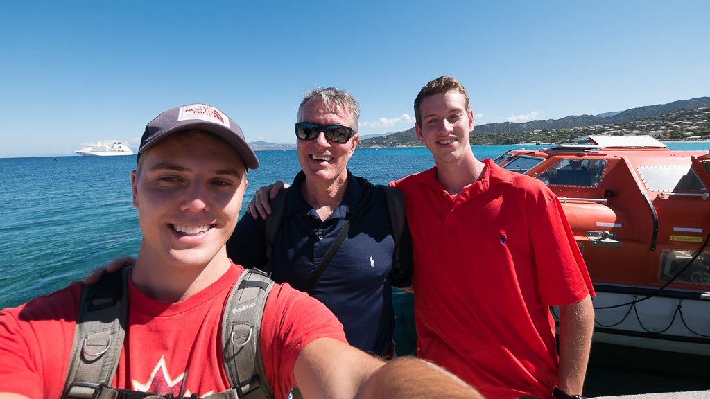 Chris Stanley (left) with Ralph & Alex Grizzle. © 2015 Avid Travel Media Inc.