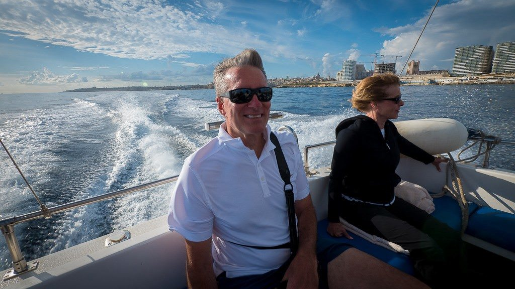 Fast boat tour in Malta. © 2015 Avid Travel Media Inc.