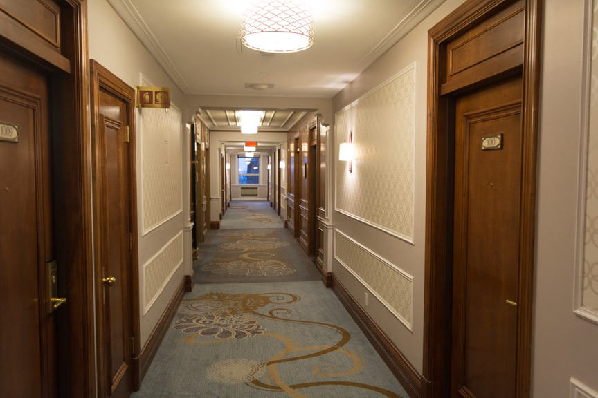 The Chateau Frontenac undewent a massive refurbishment program that was completed last year. The result? The hotel sparkles. Photo © 2015 Aaron Saunders