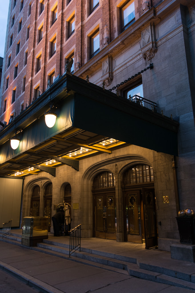The unassuming entrance to the Fairmont Le Chateau Frontenac... Photo © 2015 Aaron Saunders