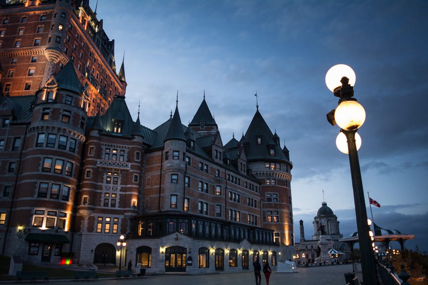Welcome to Quebec City and the Fairmont Chateau Frontenac! Photo © 2015 Aaron Saunders