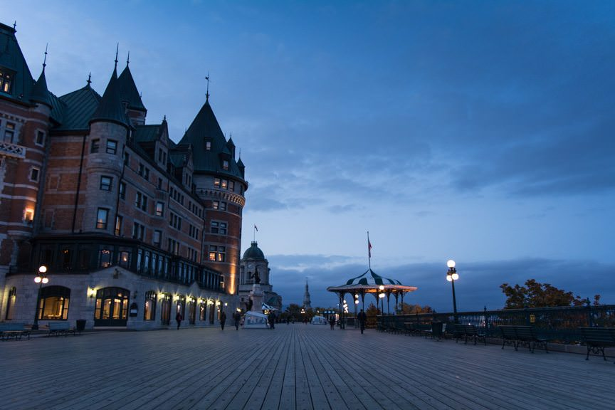 The Fairmont Chateau Frontenac is bordered by an attractive promenade... Photo © 2015 Aaron Saunders