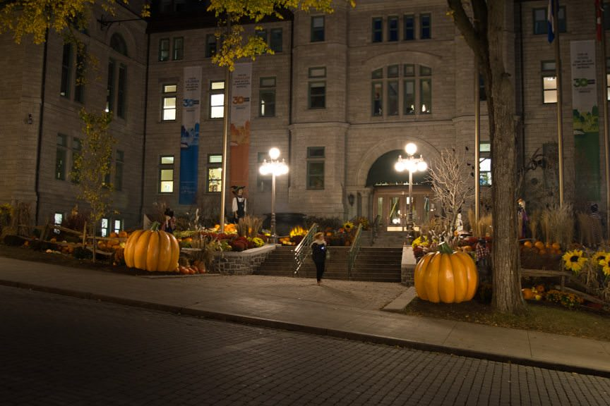 I loved all the Halloween displays that are out on the streets of Quebec! Photo © 2015 Aaron Saunders