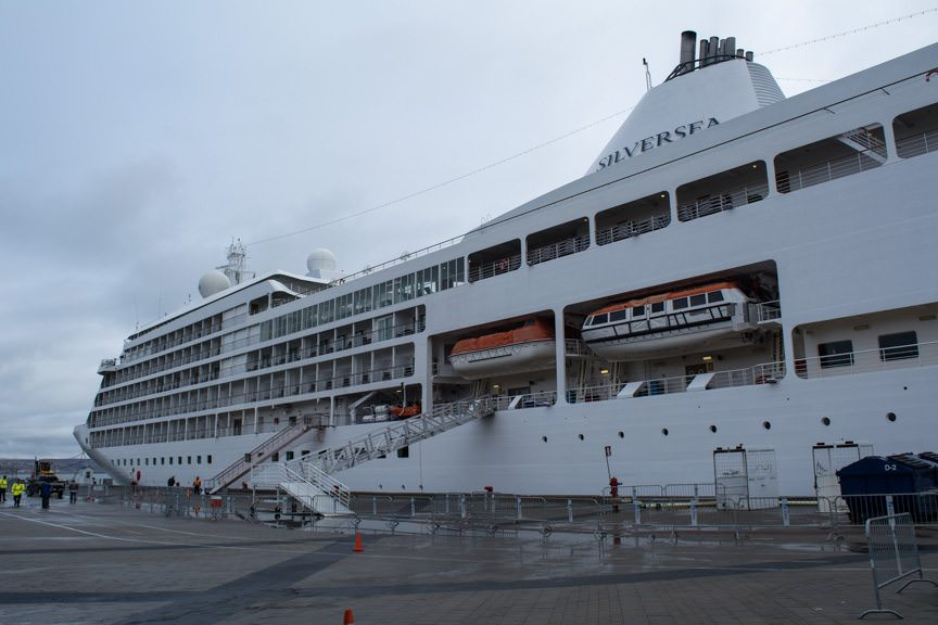 The Silver Whisper tied up today in Quebec City. Photo © 2015 Aaron Saunders