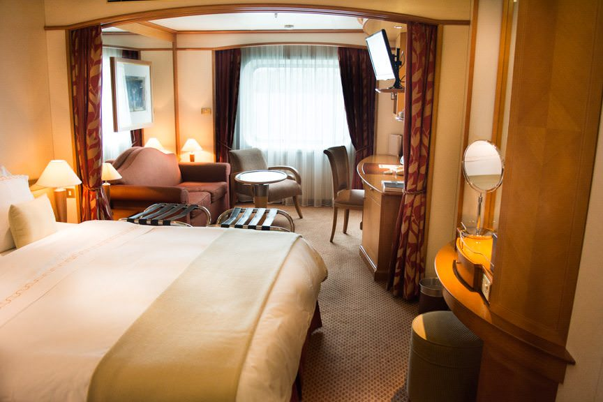 Vista Suite 421 is one of a handful of oceanview suites aboard the Silver Whisper. Photo © 2015 Aaron Saunders