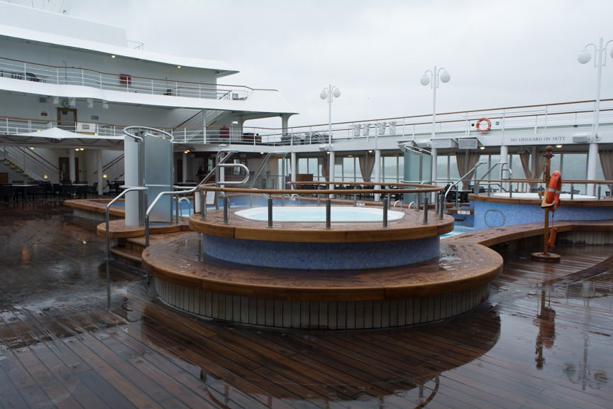 ...but the ship's hot tubs might. Photo © 2015 Aaron Saunders