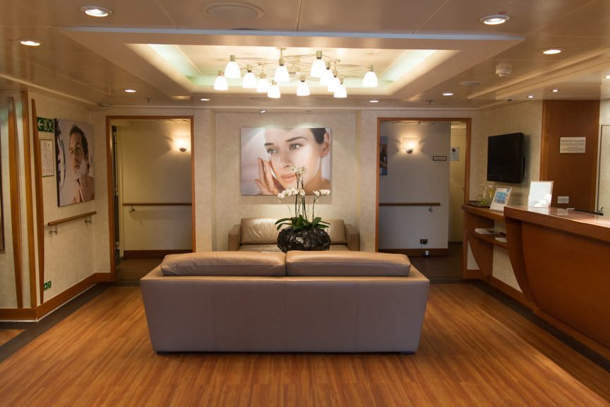 ...the Spa at Silversea. Photo © 2015 Aaron Saunders