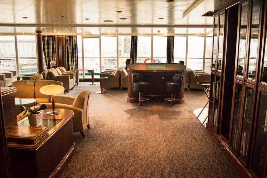 Also located on Deck 10 is the beautiful Observation Lounge. Photo © 2015 Aaron Saunders